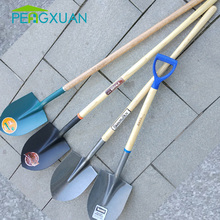 Factory supply best quality farming tool cheap wooden shovels handle 90cm