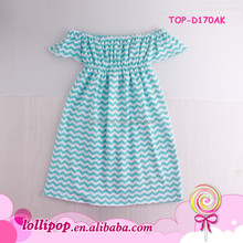 Baby Cotton Frocks Designs Girl Mint Chevron Kids Baby Gown Baby Off Shoulder Dress