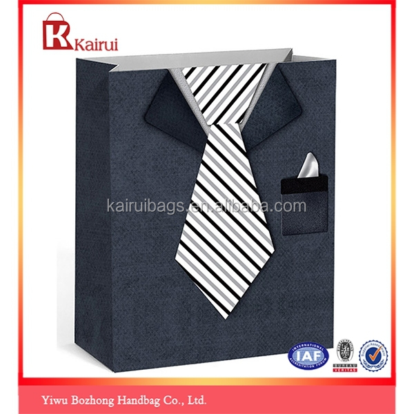 Fashion Design Ribbon Tie Gift Paper Bags Wholesale