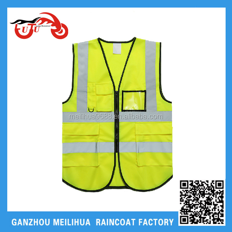 Fluorescent Yellow Polyester Mesh Railroad Youth Childrens Safety Vest