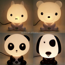 Cartoon panda night light for kids/Custom Cute Cartoon Animal 3d LED Night Light/OEM plastic led 3D night light China Factory