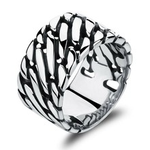 Marlary Fashion Men 3161 Stainless Steel Jewelry Customized Logo Middle Finger Boss Ring