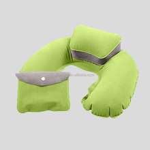 customed ergonomic inflatable airline pillow for travel