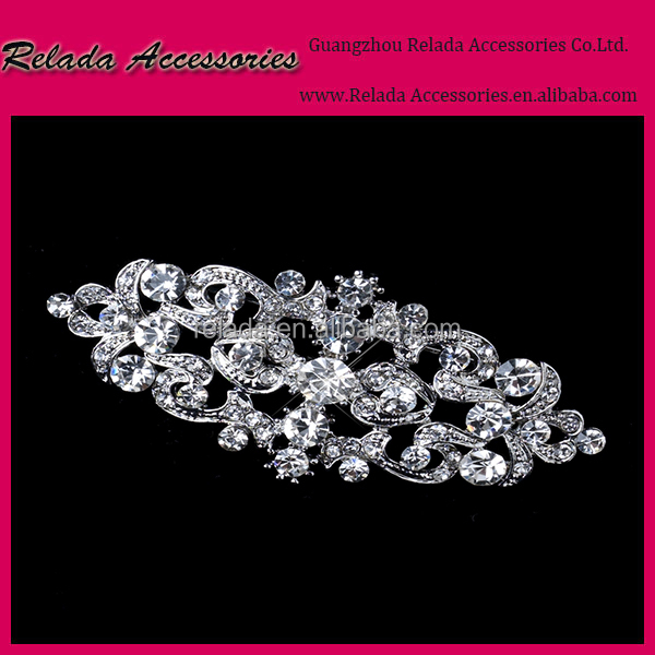 Factory Wholesale Large Bling Bling Rhinestone brooch for wedding shoe buckle RLD2353RB