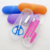 6pcs nail care set glasses case plastic manicure set