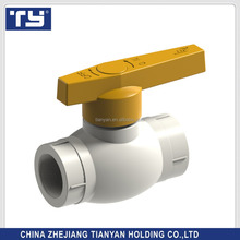 TY brand China made Cold And Hot Water Plastic Poly PPR pipe fittings Copper ball float valve
