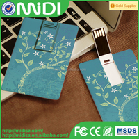 Top selling marketing promotional credit card with logo USB flash disk