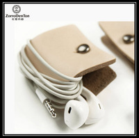 mini cute real leather / pu electronic cables storage holder
