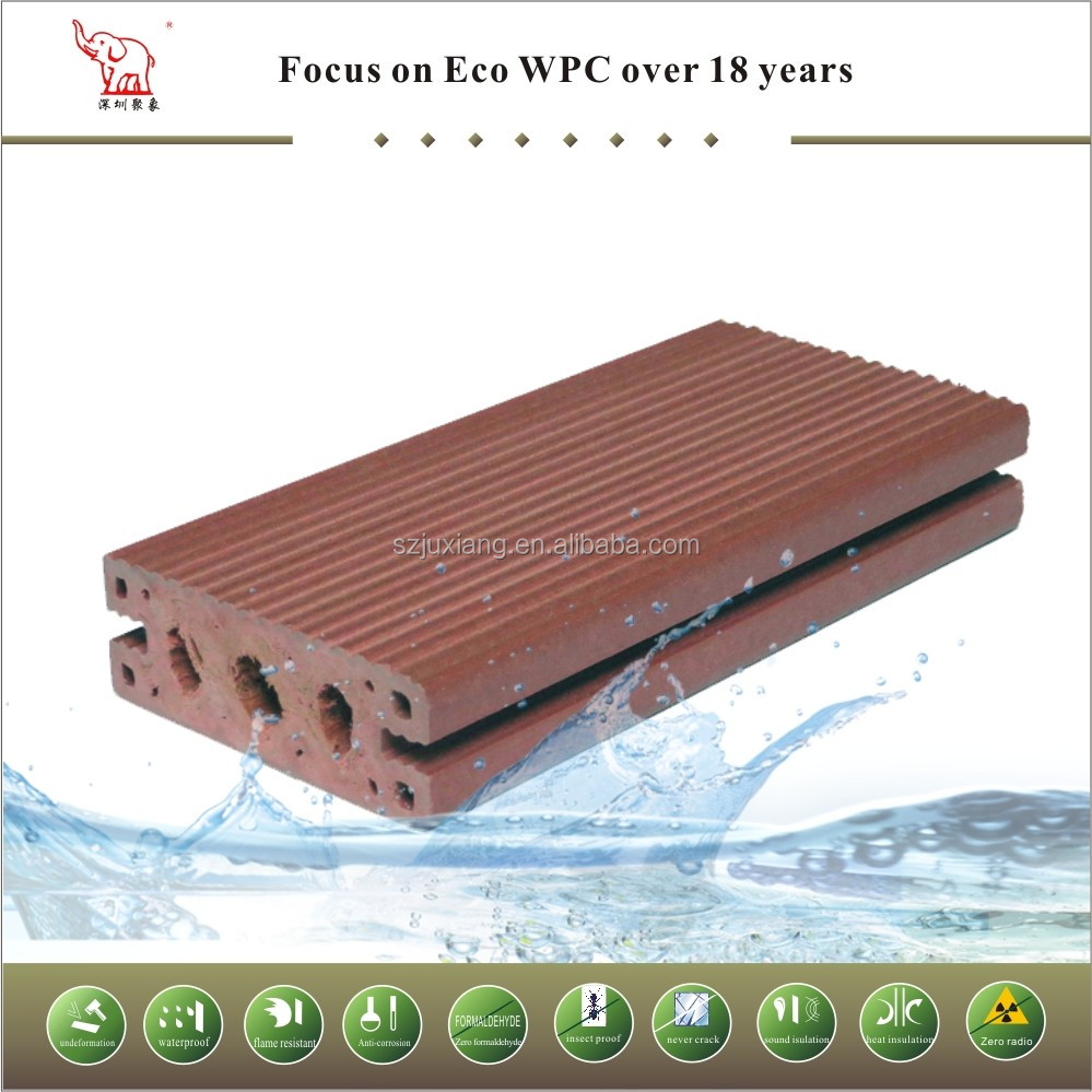 most popular and sales absolute waterproof composite wpc plastic dock decking