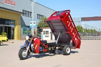 150cc Water Cooled Gasoline 3 Wheel Motorcycle with Hydraulic Dumper / Dumping Motorized Pedicab Tricycle