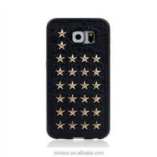 Classic Punk Rock Style Skull Rivet Multiple Patterns Soft PU Cell Phone Case for Samsung Galaxy S6 Case