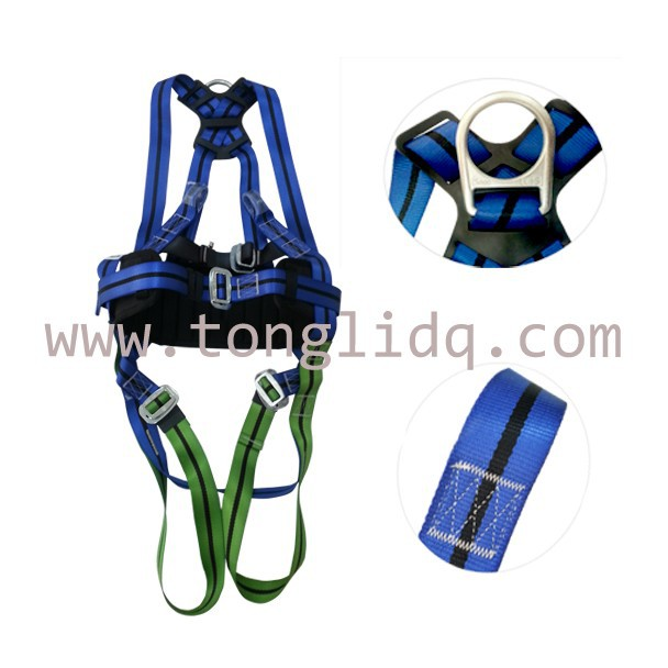 full set with hook shock absorber/energy absorber Safety Lineman polyester lifeline full body security safety belt harness