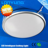 22w 40w LED Intelligent Ceiling lamp round dimmable fluorescent light fixture t8 2x58w