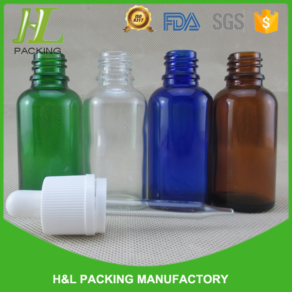 glass safety seal bottle, 30ml tamper evident cap glass dropper bottle