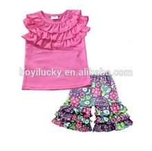 2017High quality children clothing Children summer clothes picture Girls boutique outfits