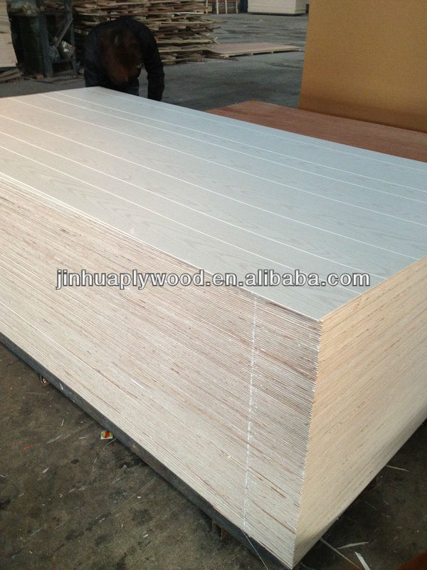 2.7mm grooved plywood with paper overlay