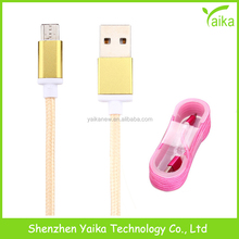 Yaika Nylon Fabric Braided 3FT Micro USB Cable for Samsung