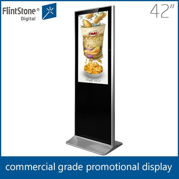 42 inch Indoor floor standing digital signage, free standing LCD advertising player