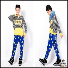 CCL130 Amazing Star Print Leggings Bright Korea Women Sex Hot Trousers