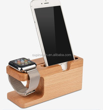 Enviromental material wooden charging holder stand for apple watch/wood watch holder/Mobile Phone Holder