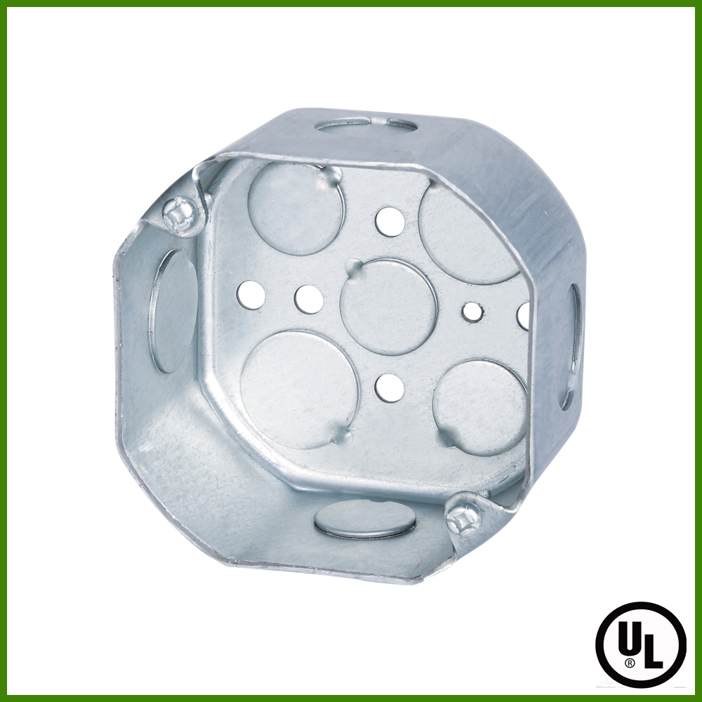 UL approved 1-Gang Metal Ceiling Electrical Outlet Box