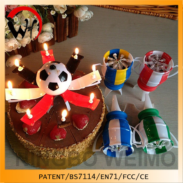 Patent soccer fans club gifts birthday candle red black birthday party decorations