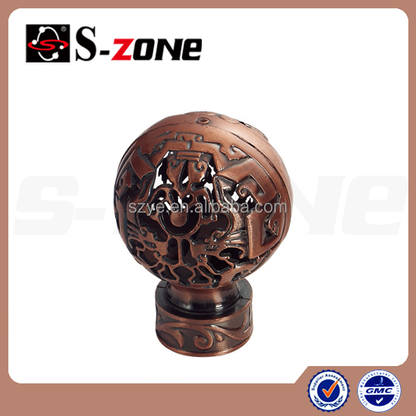 Decorative Curtain Rod Ends - Rooms