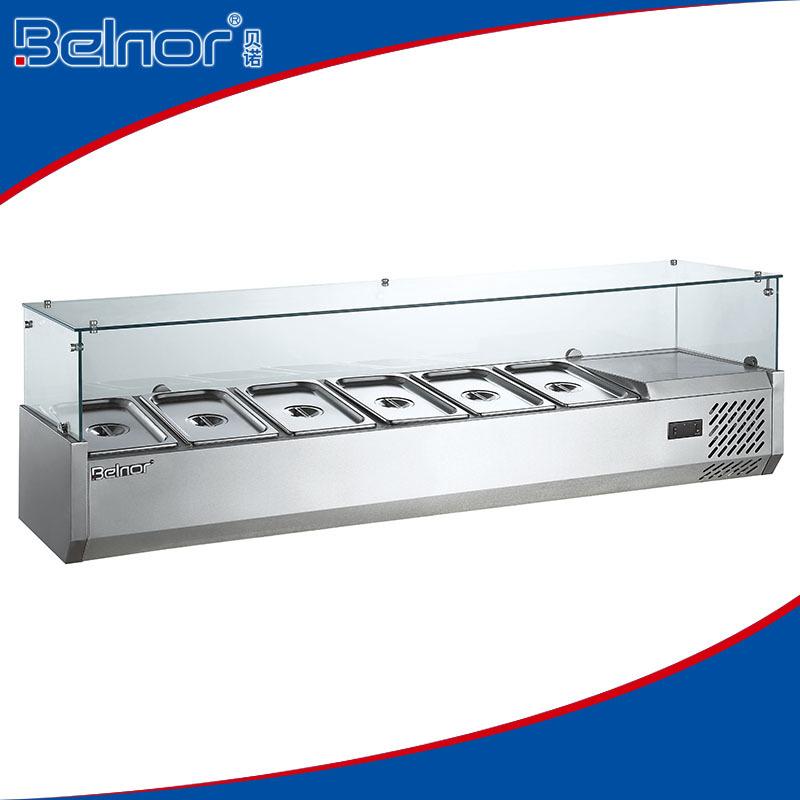 Beau VRX 15 Commercial Staless Steel U003cstrongu003eRefrigeratedu003c/strongu003e Counter U003c