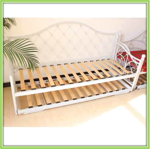 Cheap Modern Simple White Metal Daybed With Trundle Bed - Buy Modern ...