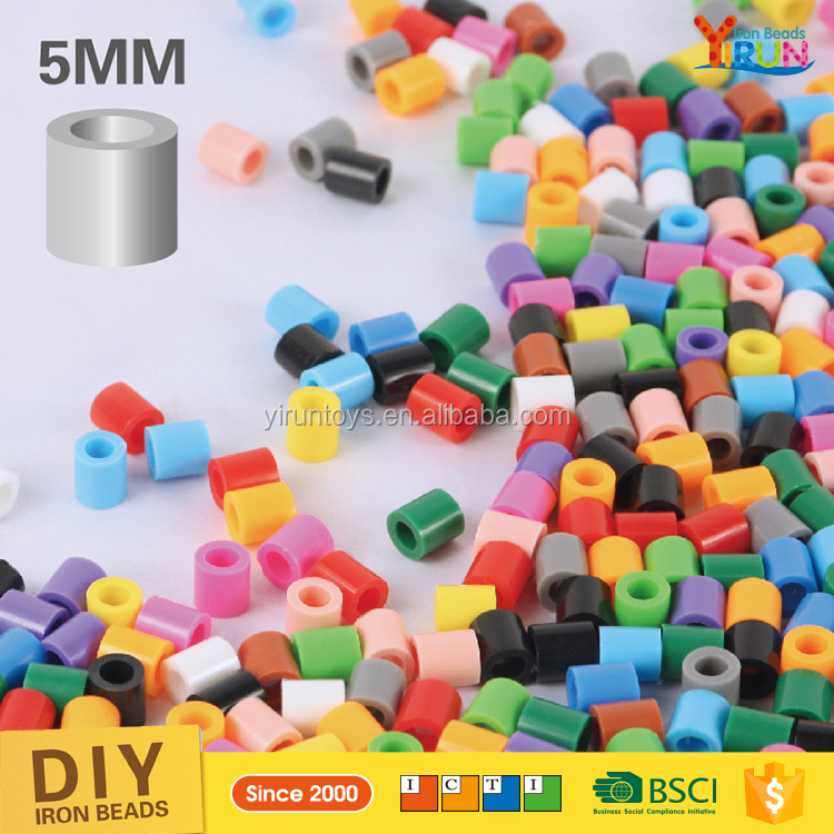 Montessori materials in china YIRUN perler beads kits 5mm Bulk beans diy hama beads for kids kits beads
