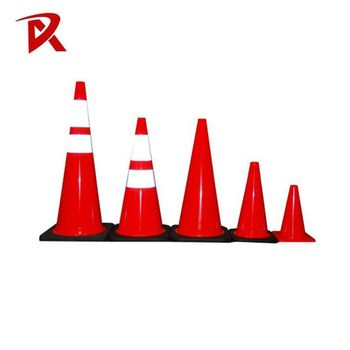 Customized Height colourful/flexible pvc traffic cone