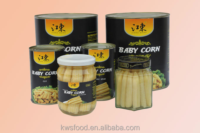canned pickled baby corn in brine