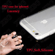 New 0.3mm slim ultra thin transparent TPU case for iphone 6, 5.7 inch TPU clear back cover