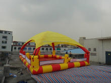 Outdoor Large playground best seller inflatable swimming pool with tent cover