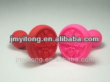Mini food grade custom non stick cookie embossing stamp