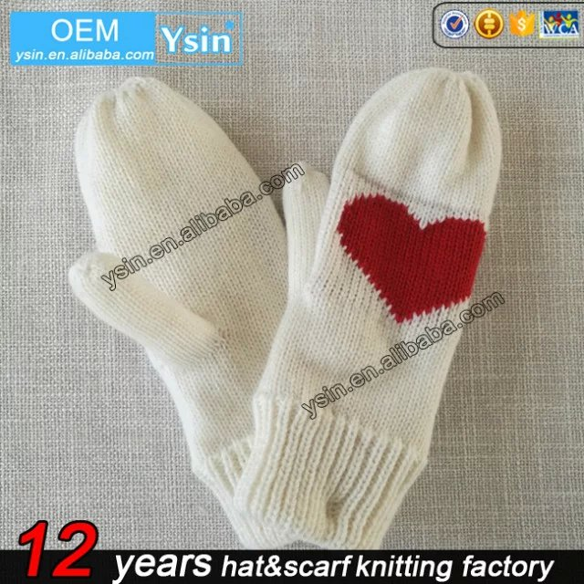 Christmas knitted gloves for keeping gift, Christmas gift gloves/christmas gift gloves mitten