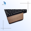 Solid wood mechanical keyboard hand care wrist pad wooden slanting bracelet palm rest set custom size
