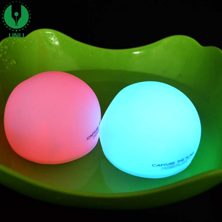 Promotional Gift OEM Plastic Battery Floating Waterproof Night Light Up Led Float Pool Ball