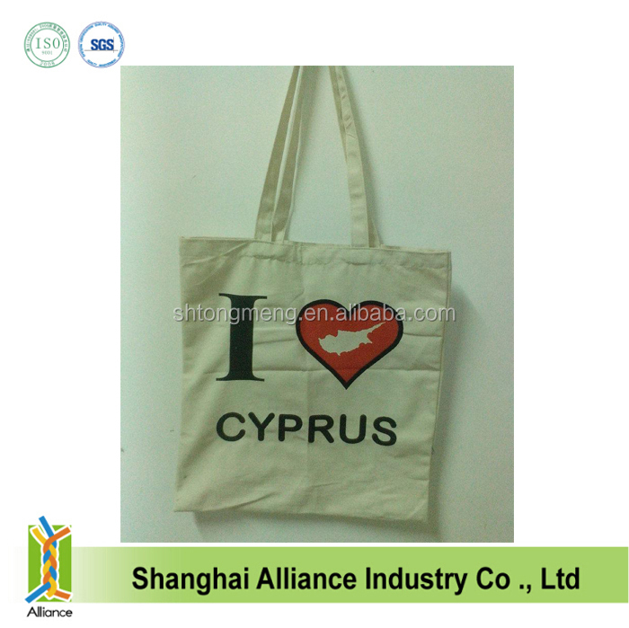 Eco Friendly wholesale unbleached cotton fabric shopper bag