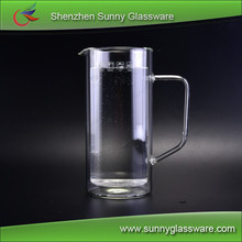 Borosilicate heat resistant glass 2.2l water jug set