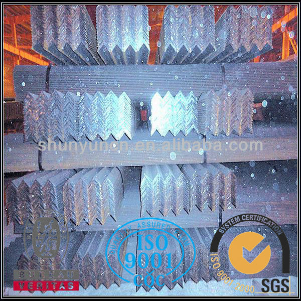 Steel Profiles equal angle iron with holes with grade EN S235JR S355JR
