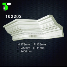 Factory sales home decorative pu cornice/ cove crown moulding