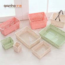 Wholesale china bathroom kitchen living room plastic box cover decorative storage boxes paris for sale