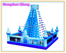 2016 New design artificial inflatable rock climbing wall, inflatable sport game mobile rock climbing wall for children