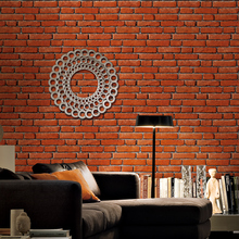 Country style wall decoration paper for living room background wallcovering 3d wallpaper walls wallpaper bricks