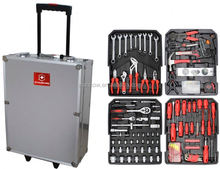 Professional 186 trolley tools box (tools;stainless ratchet handle)