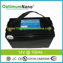 Deep cycle lithium battery pack 12V 100AH
