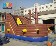 2017 hot Pirate ship inflatable bouncer house