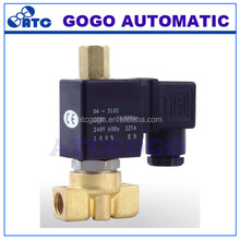 "1/8"" 1/4"" Brass coffee vending machine solenoid valve /3 way direct acting solenoid valve dc 24v"