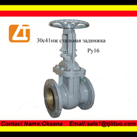 Gost gate valve 30c41nj/cast iron gate valve with rubber seat
